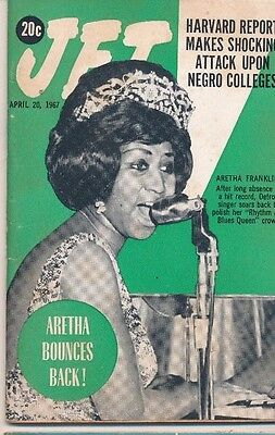 4/20/1967 Jet Magazine Aretha Franklin 1st Cover Shocking attack Negro Colleges