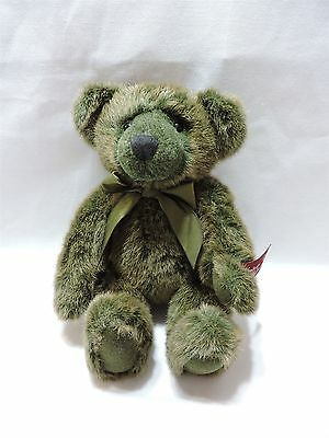 "Vintage Collection Teddy Bear Russ Jointed Plush 12"" Green Brown Cute"