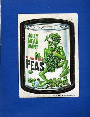 1967 Topps Wacky Packages Die Cut #21 Jolly Mean Giant RARE Variation!
