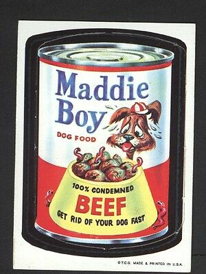 1967 Topps Wacky Packages Die Cut #21 Maddie Boy RARE Variation! NO Creases!
