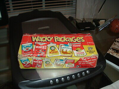 1967 Wacky Packages Die Cut Display Box CAMPY version