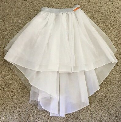 NWT Women's White And Silver Tutu Bachelorette Party Bridal Shower One Size