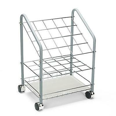 Safco 3091 Wire Roll/File, 20 Compartments, 18w x 12-3/4d x 24-1/2h, Gray