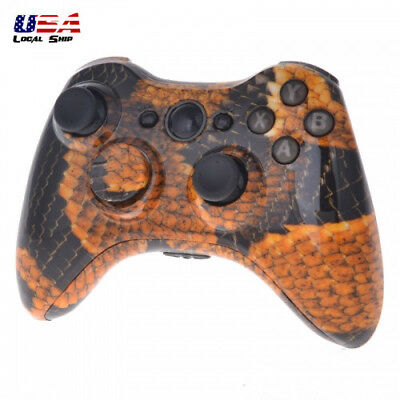 Gold Dragon Full Housing Shell Case Buttons For XBOX 360 Controller
