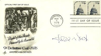 Frederick B. Dent - First Day Cover Signed