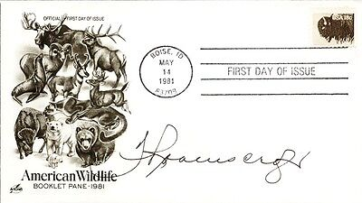 Thurl Ravenscroft - First Day Cover Signed