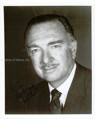 Walter Cronkite - Inscribed Photograph Signed