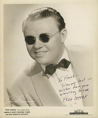 Fred Lowery - Inscribed Photograph Signed