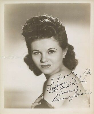 Rosemary Calvin - Inscribed Photograph Signed