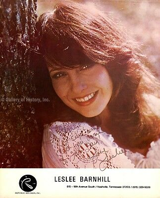 Leslee Barnhill - Inscribed Photograph Signed