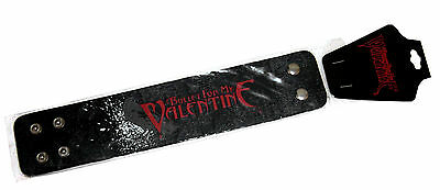"Bullet For My Valentine ""bird"" Black Faux Leather Wrist Band New Official Osfm"