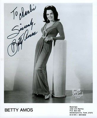 Betty Amos - Inscribed Photograph Signed