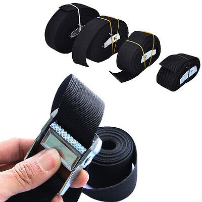 UK Portable Metal Buckle Nylon Pack Cam Tie Down Lash Luggage Strap Various Size