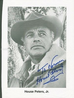 House Peters Jr. - Inscribed Book Photograph Signed