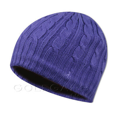 Green Lamb Soft Knitted Beanie with Black Fleece Lining in Grape Purple