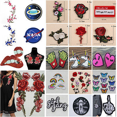 Lots Patterns Embroidery Sew&Iron On Patch Badge Cloth Fabric Transfer Appliques