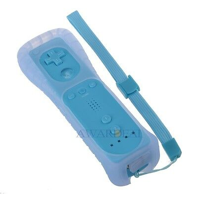 Blue Wiimote Remote Controller For Nintendo wii Game & Silicone Case Cover NEW