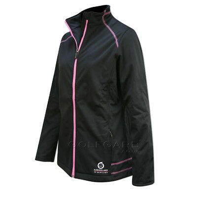 Sunderland Annapurna Showerproof Jacket in Black/Pink