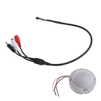 High Sensitive Pickup Audio Mic Microphone Power Cable For CCTV Security Camera