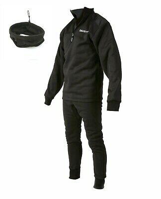 Daiwa Sundridge Black Sleepskin Thermal 2 Piece Suit + Neckwarmer *All Sizes*