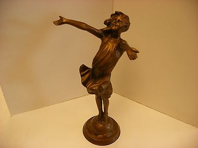 "Art Nouveau J.M.R Jessie McCutcheon Raleigh Statue ""The Good Fairy"" 11"" 1916"