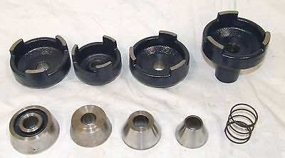 """AMMCO 1"""" Bore Hubless Drum Rotor Adapters 9pc 9490 9489 3904 3110 9263 3903 3107"""