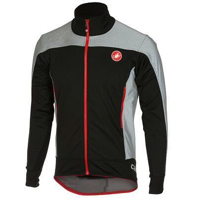 Castelli Mortirolo Reflex Winter Bike Jacket Black/Red 2018