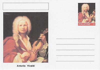 CINDERELLA - 4547 - Antonio VIVALDI  on Fantasy Postal Stationery card