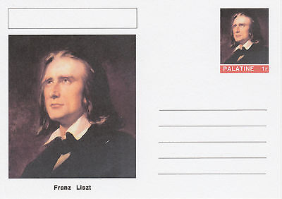 CINDERELLA - 4556 - Franz LISZT  on Fantasy Postal Stationery card