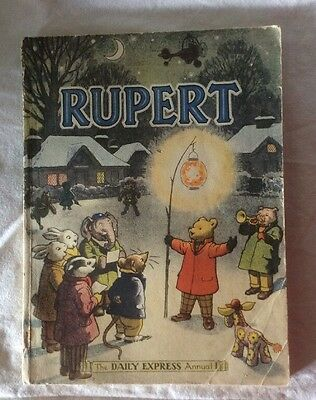 Vtg Daily Express Rupert Annual Book Soft Cover 1949 .