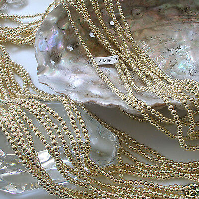 Japanese Gold Faux/Plastic Pearls Beads Strands 2,2.5,3,4,5,6,8,10,12mm Round