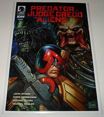 PREADOR Vs JUDGE DREDD Vs ALIENS # 4   Dark Horse Comic  June 2017   NM