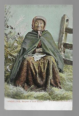 Vintage Postcard Chief Seattle's Daughter Angeline Native American Indian