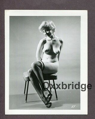Gorgeous Blonde Great Legs Breasts 1950 Original Nude Vintage Pinup Photo D801