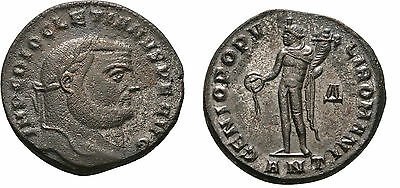 Ancient Rome Antiochia Diocletian 284-305 AD Large Silvered Follis GENIUS -NICE