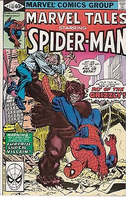 1980 Marvel Tales Comic Book #116 Featuring The Amazing Spider-Man