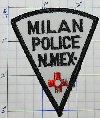 "New Mexico, Milan Police Dept 3"" Patch"