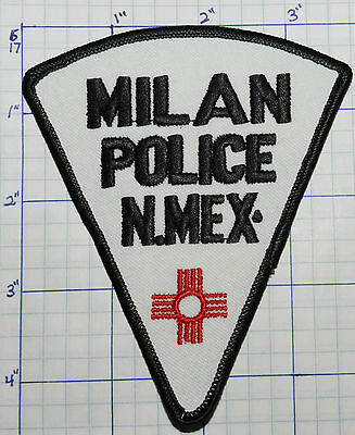 "New Mexico, Milan Police Dept 4.5"" Patch"