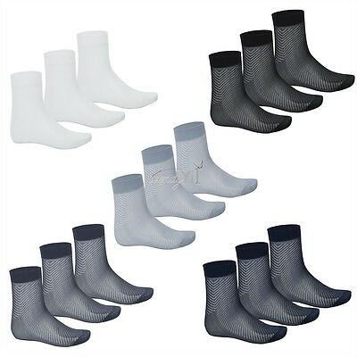 3 Pairs Men's Summer Casual Thin Breathable Silk Mid-Calf Soft Short Crew Socks