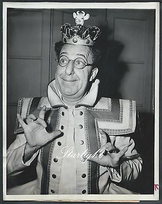 Comic Actor Ed Wynn of Mary Poppins ORIGINAL 1944 Promo Photo Old Time Radio