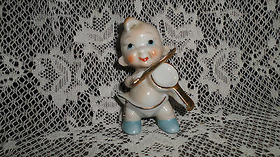 Vintage Baby Boy Playing Frying Pan w Safety Pin In Diaper Porcelain Figurine
