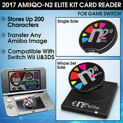 AMIIQO N2 Elite Emulator Figurine NFC Reader Cable For AMIIBO Switch New 3/2DS