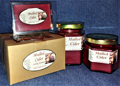 *NEW* Hand Poured Fall Autumn Scents Soy Candles, Tarts & Votives - Mulled Cider