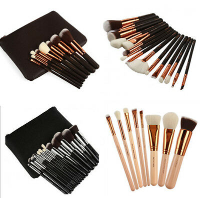 8 / 12 / 15 PCS Pro Makeup Brushes Set Cosmetic Complete Eye Kit + Case