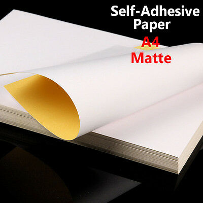 Lot A4 Matte Self Adhesive Sticker Paper Sheet Shipping Label Laser Inkjet Print