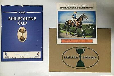 Horse Racing Melbourne Cup V.r.c 1998 Limited Edition Calendar