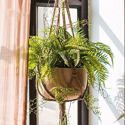 6 Style Handcrafte Jute Cord Plant Hanger Pot Holder With Hanging Basket Ring