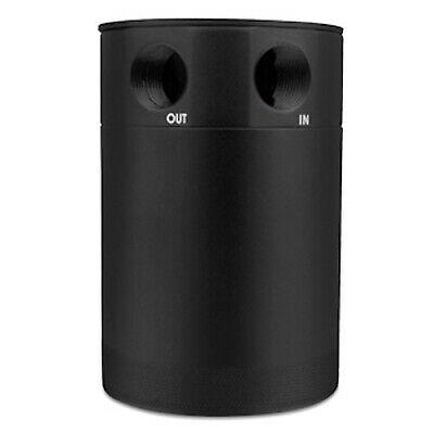 Mishimoto Universal 2-Port Compact Baffled Oil Catch Can / Tank - MMBCC-MSTWO-BK