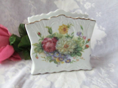 Mixed Roses Porcelain Napkin Holder -Tp626