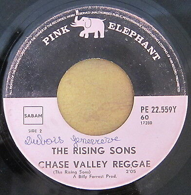 Listen: THE RISING SONS chase valley reggae RARE SOUTH AFRICAN FUNK SKA 45